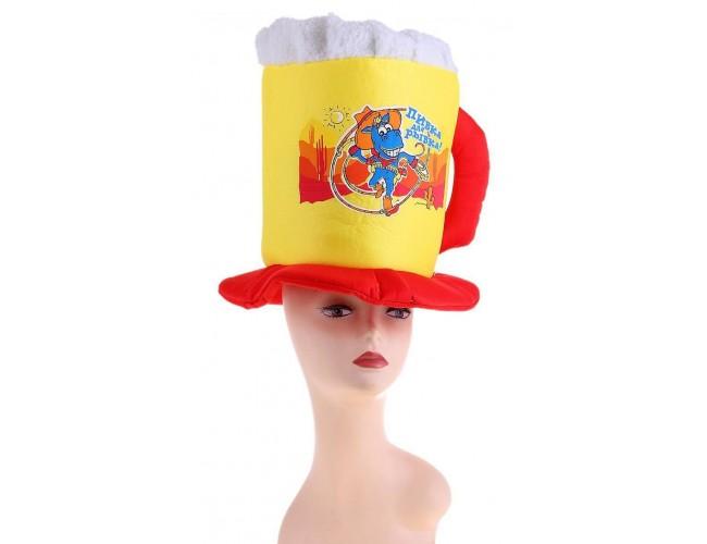 "Карнавальная шляпа кружка пива ""Пивка для рывка"""