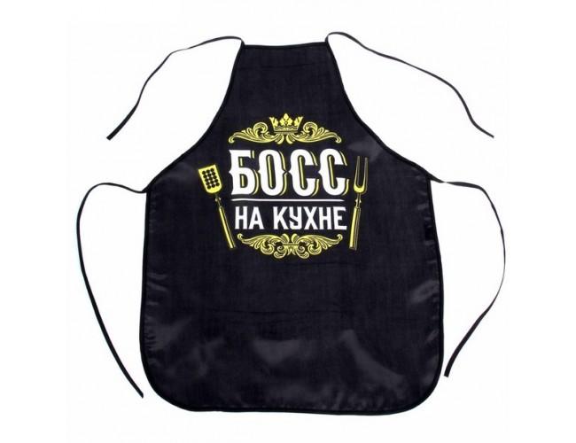 """Фартук цветной """"Босс на кухне"""""""