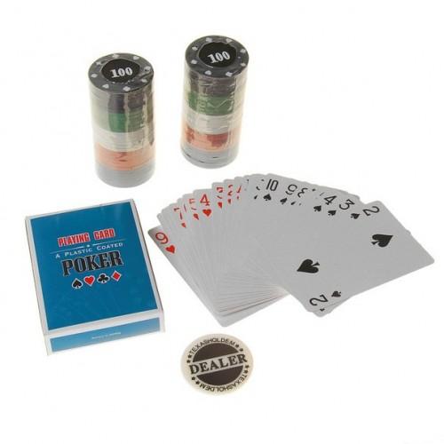Набор для покера: 54 карты, 60 фишек