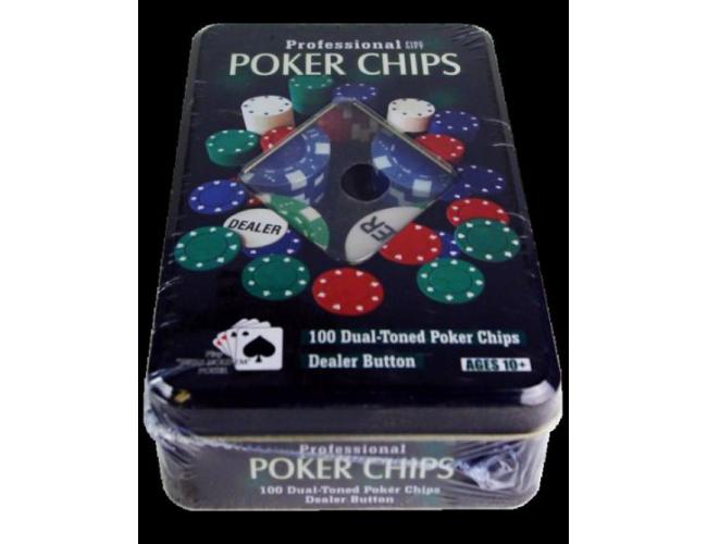 Набор для покера в коробке 100шт.