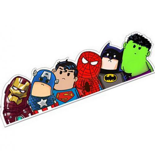 Наклейка на автомобиль супергерои