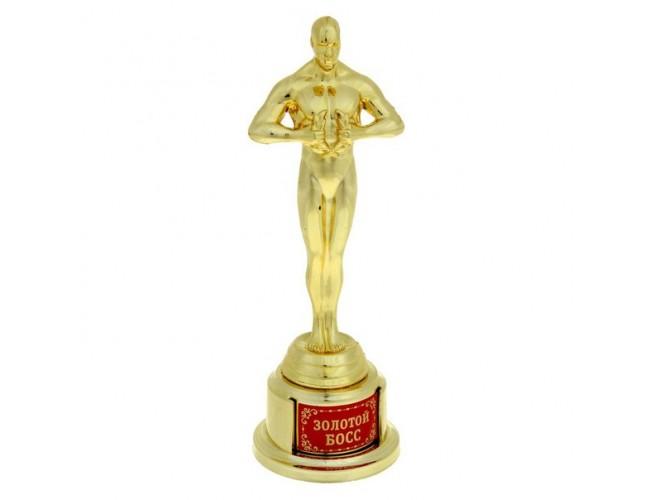 """Оскар на золотой подставке """"Золотой босс"""""""