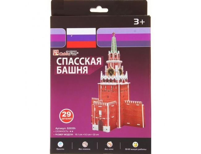 """Пазл 3D """"Спасская башня"""", 29 деталей"""